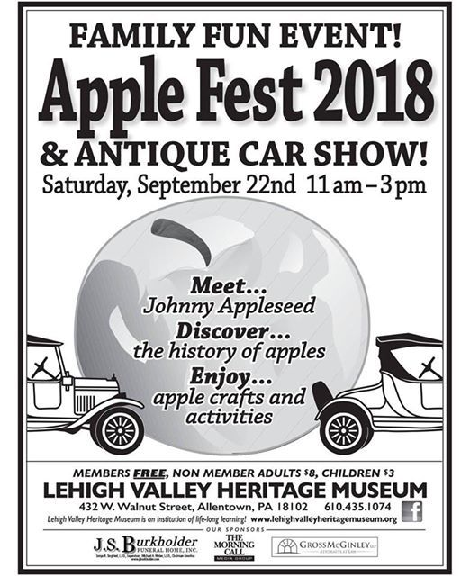 Apple Fest Antique Car Show At Lehigh Valley Heritage Museum - Car show allentown pa