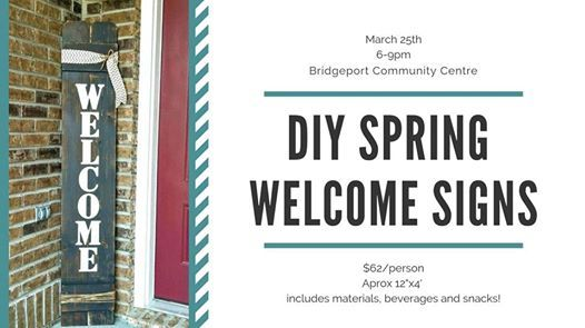 DIY Springtime Welcome Signs