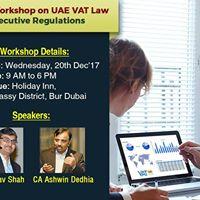 VAT Talk - Workshop on UAE VAT Law &amp Executive Regulations