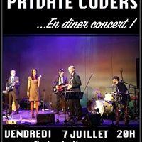 Repas-Concert avec les Private Covers au Caf de lOpra