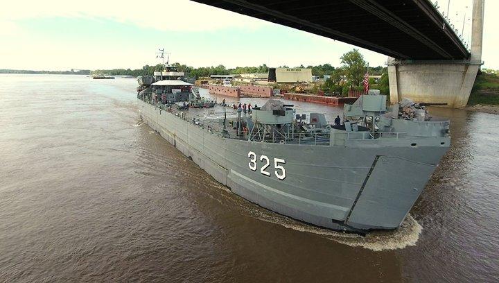 USS LST 325 in Dubuque Iowa