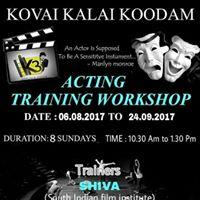 Acting Training Workshop  Coimbatore