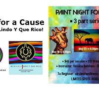 Paint for a Cause at Mexico Lindo 3 Paint Night for Kenya