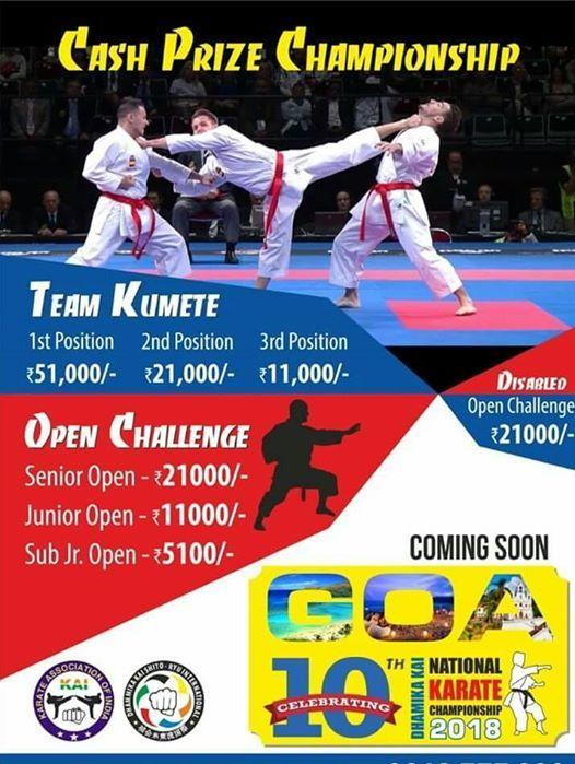 NATIONAL KARATE CHAMPIONSHIP GOA at Goa