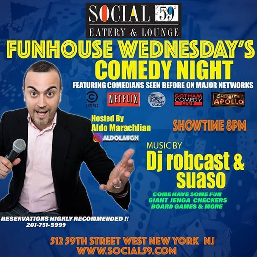 Image result for Funhouse Wednesday's Comedy Night
