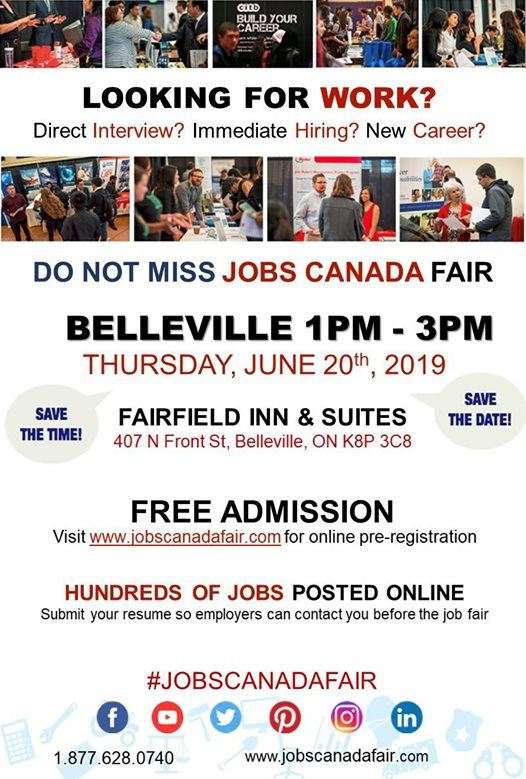 Belleville Job Fair - June 20th 2019