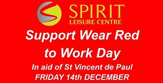 Charity Class and Wear Red to Work Day