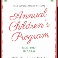Annual Childrens Program