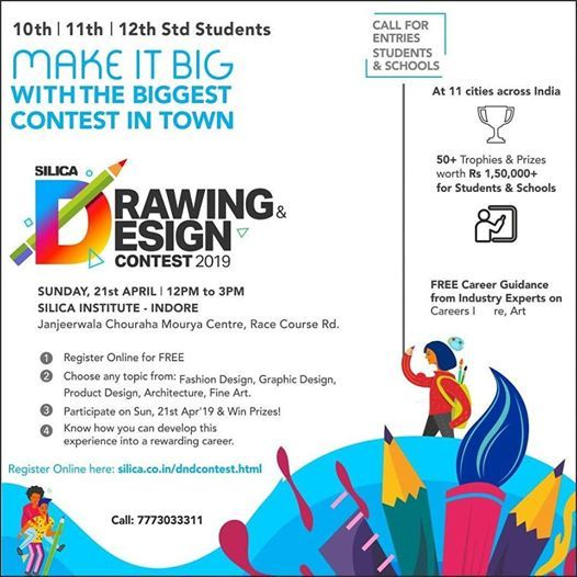 Drawing & Design Contest at Silica Indore, Indore