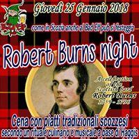 Burns Night Birre cibo whisky canti e musiche dalla Scozia