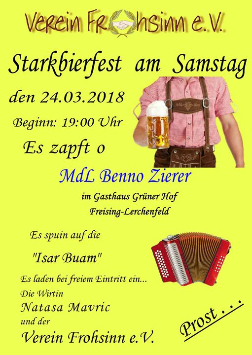 Starkbierfest mit Josefifeier at Grüner Hof Freising, Freising