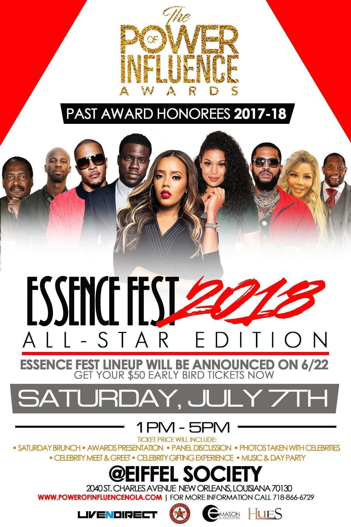Actress events in new orleans today and upcoming actress events in the power of influence awards essence fest 2018 all star edition m4hsunfo