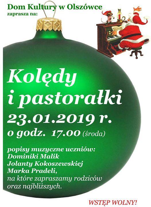 Koldy i pastoraki popisy pianistw w Domu Kultury w Olszwce
