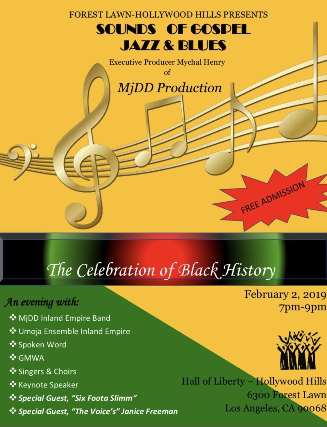Black History Sounds of Gospel And Jazz at Forest Lawn