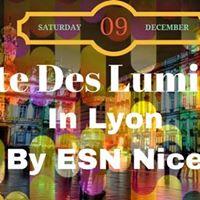 Fte des lumires  Lyon with ESN Nice