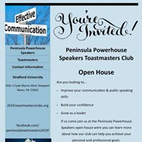 Peninsula Powerhouse Speakers Open House
