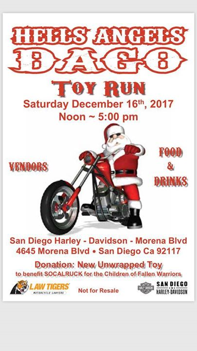 Hell's Angels Dago Toy Run at San Diego Harley-Davidson, San