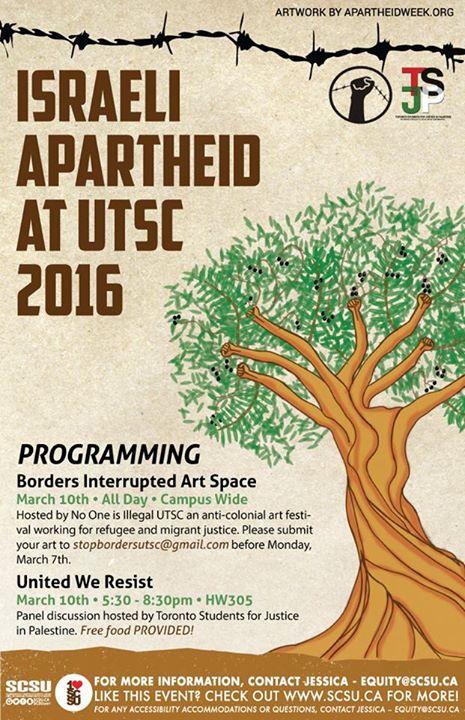 ISRAELI APARTHEID WEEK Our Struggles Unite IAWatUTSC
