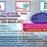ScienceMaa 2K17 Tech Fest A state level Science Exhibition