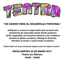 Teatro para el Desarrollo Personal - Taller 2018.