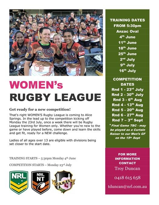 Womens Rugby League Competition