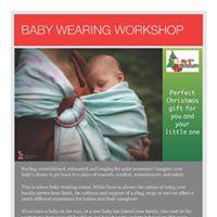 Baby Wearing Workshop- Slings wraps and mei-tai.