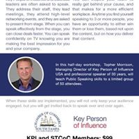 Public Speaking Workshop with Key Person of Influence