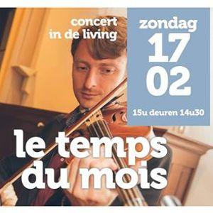 Concert in de living Le Temps du Mois