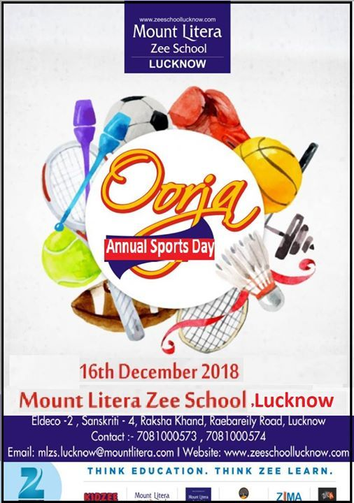 Annual Sports Day At Mount Litera Zee School Lucknowsanskriti 4