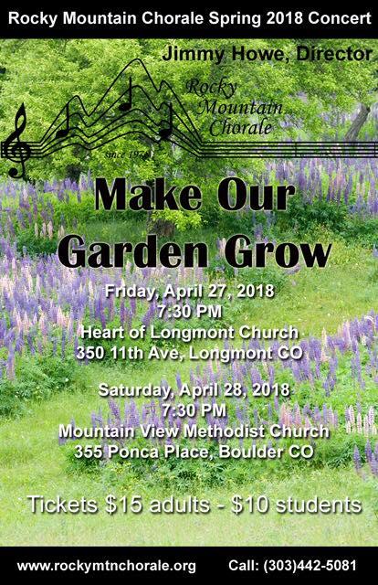 Spring Concert - Make Our Garden Grow at Heart of Longmont, Longmont