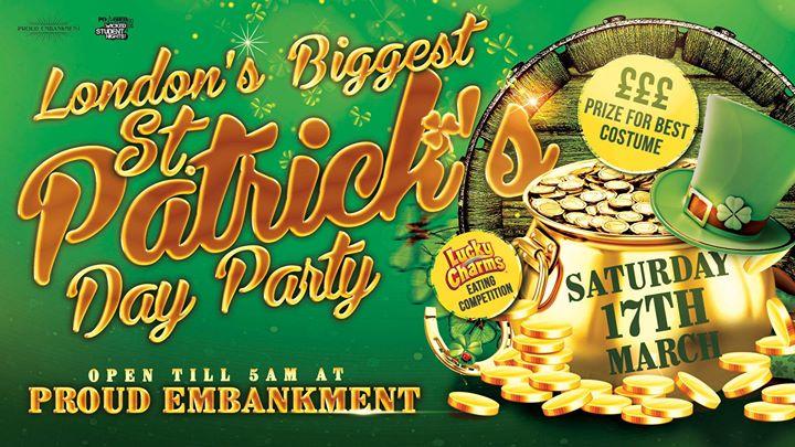 Londons Biggest St Patricks Party - TILL 5AM