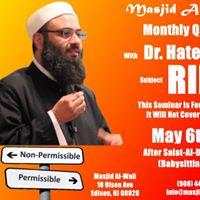 Monthly Q&ampA Seminar with Dr Hatem Al-Haj