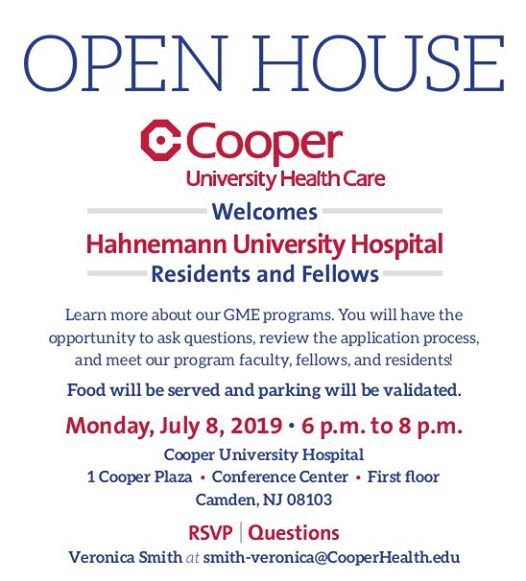 GME Open House at Cooper University Health Care, Camden