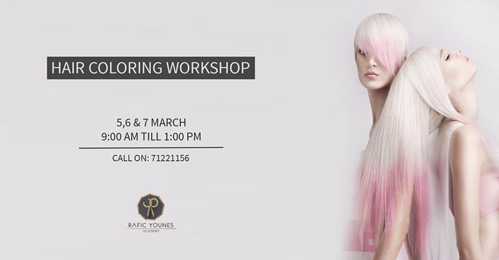 Advanced Hair coloring Techniques Workshop at Rafic Younes, Beirut