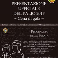 Presentazione ufficiale del Palio 2017- Cena di gala