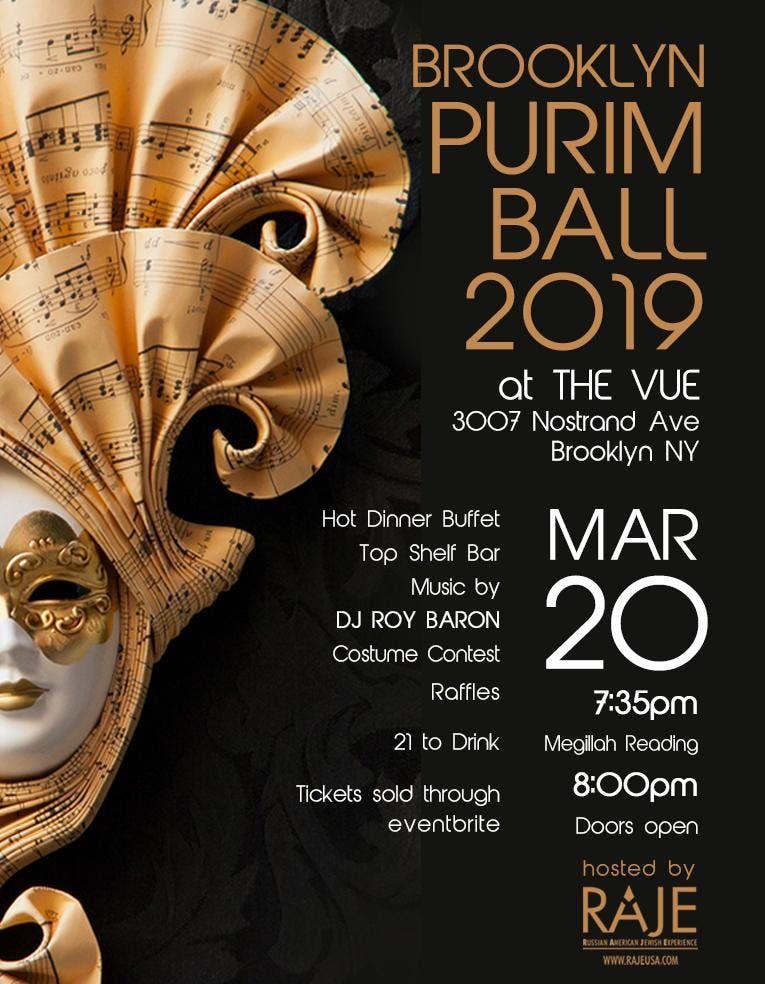 Brooklyn Purim Ball 2019 hosted by RAJE