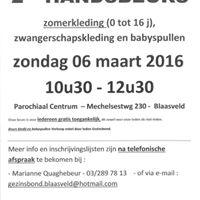 2de Handsbeurs Babyspullen En Kleding