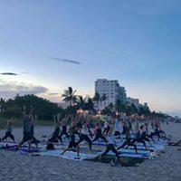 Ahh-mazing January Supermoon Beach Yoga