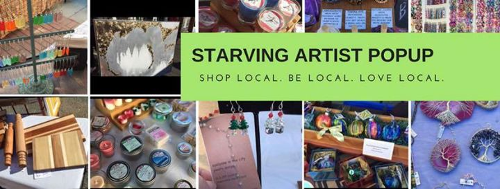 Starving Artist Popup Market  August 20th at CAL
