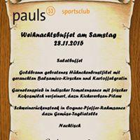 pauls53-Sportsclub Weihnachtsfeier 2015