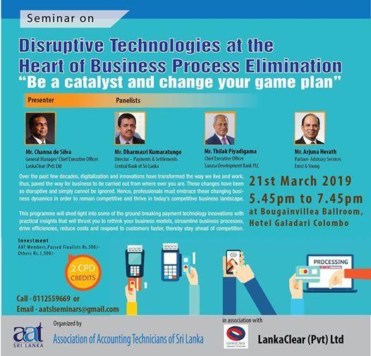 Disruptive Technologies - Heart of Business Process Elimination