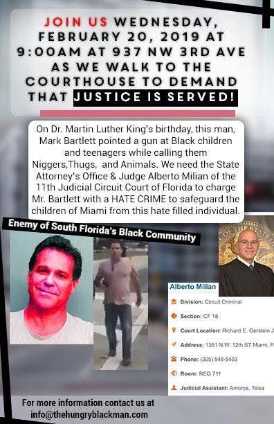 Mark Bartlett Hate Crime Arraignment Protest