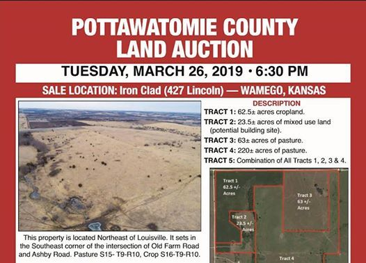 Pott County Land Auction by Crossroads at Iron Clad | Kansas