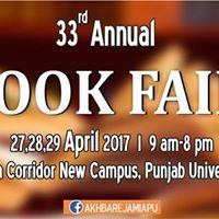 33rd Book Fair Punjab University Lahore