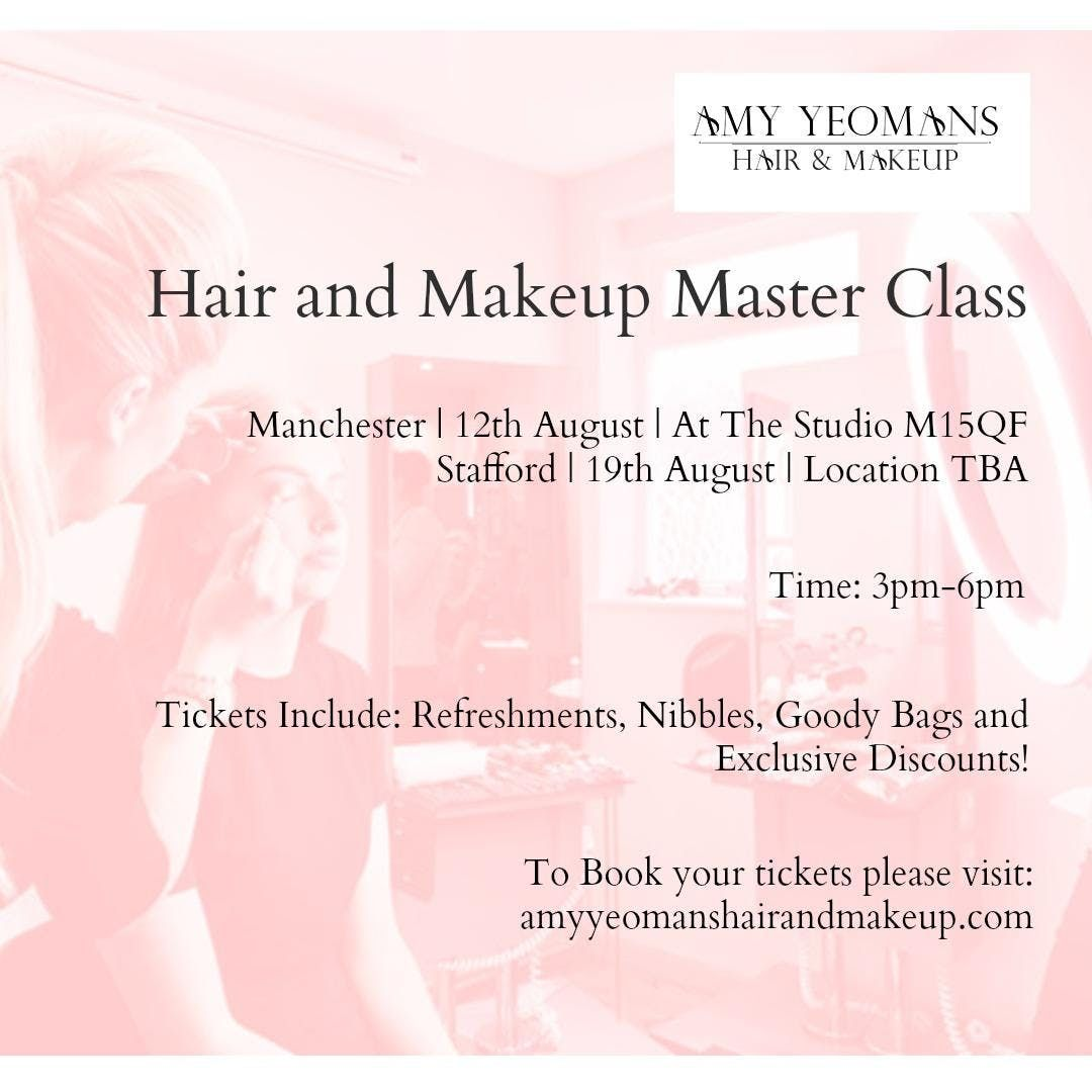 STAFFORD HAIR AND MAKEUP MASTERCLASS
