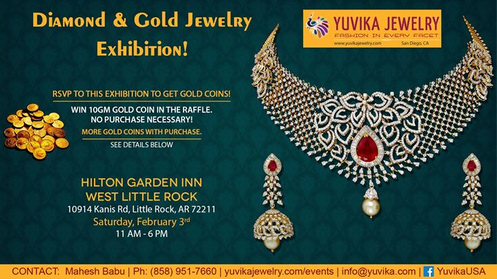yuvika diamond gold jewelry exhibition little rock ar - Hilton Garden Inn West Little Rock