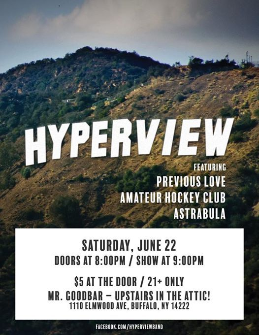Hyperview w Previous Love Amateur Hockey Club and Astrabula