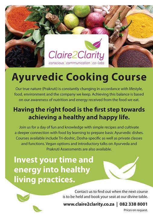 Gut health Ayurvedic Cooking Course at Ranpark Ext 2, Randburg
