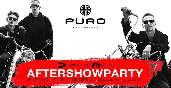 Depeche Mode - Aftershowparty Berlin  Puro Sky Club