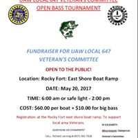 UAW Local 647 Veterans Committee Open Bass Tournament